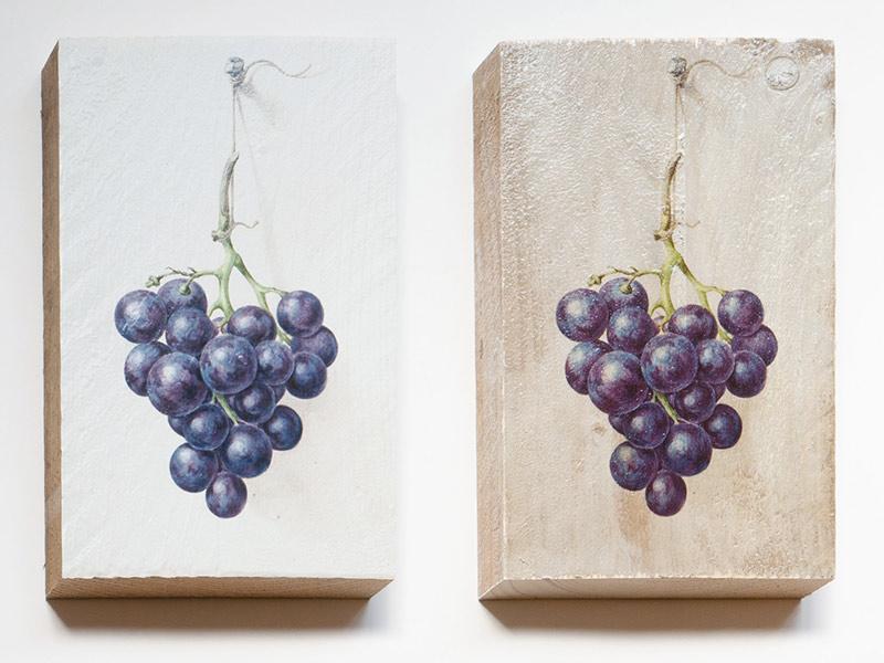 druiven wit en transparant
